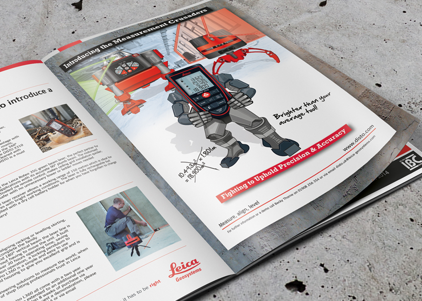 Marketing and Illustration for Leica Geosystems