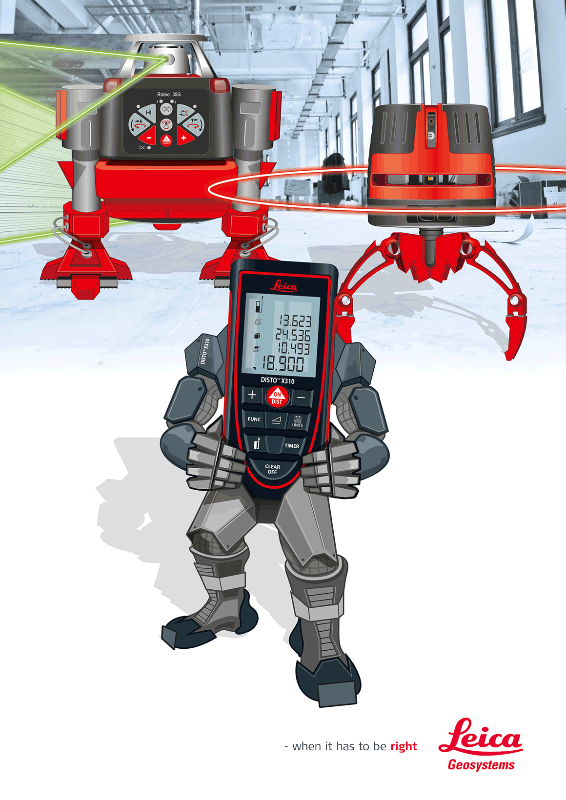 Graphic Design and Illustration for Leica Geosystems