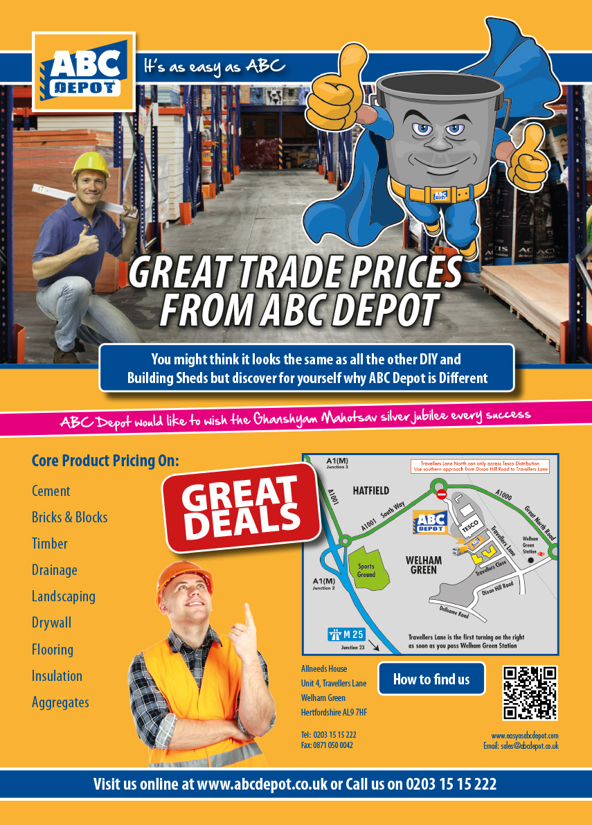 Early print advertisement for ABC Depot