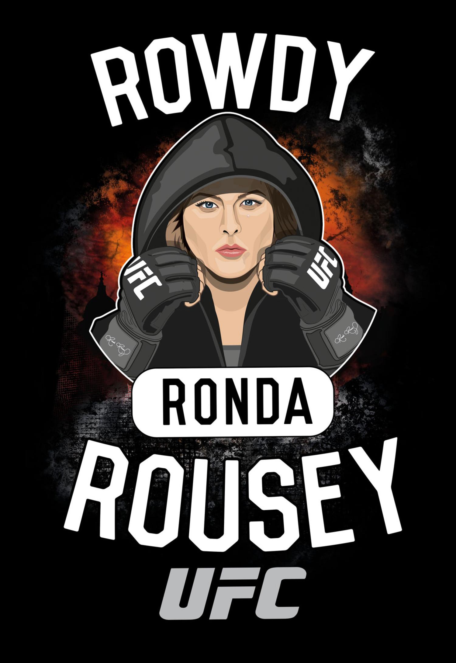 UFC Ronda Rousey MMA Walkout T-Shirt Design